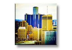 """15x15 inch artwork and 1"""" thick float framing. Artwork hovers off the wall.  The best way to display the best of Detroit - our original wood photo  floats have been the standard in showcasing the regions colorful culture.  This ready-to-hang collection was created to allow seamless collage"""