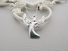 Guardian Angel Necklace, Silver Angel Necklace, Angel Jewelry, Guardian Angel Jewelry, Silver Guardian Angel Necklace