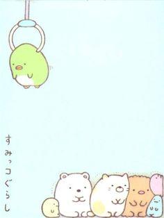 small cute San-X memo pad with shy bear, cat, penguin, seaweed etc.