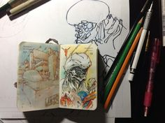 Number 322 of Kenneth Rocafort's 365 day sketch project.