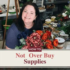 Learn professional insider tips from Julie owner of Southern Charm Wreaths. Whether you are a small business owner or an at home DIY queen learning How to Not Overbuy Wreath Supplies is just as important and learning how to craft. Check out the informational guide today! Christmas Wreaths To Make, Fall Wreaths, How To Make Wreaths, How To Make Bows, Selling Handmade Items, Wreaths For Front Door, Front Doors, Door Wreaths, Wreath Supplies
