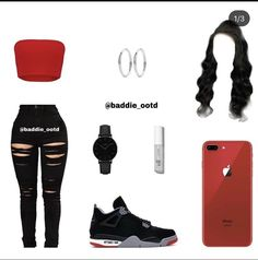 Baddie Outfits For School, Baddie Outfits Casual, Swag Outfits For Girls, Teenage Girl Outfits, Cute Swag Outfits, Cute Comfy Outfits, Girls Fashion Clothes, Teen Fashion Outfits, Girly Outfits