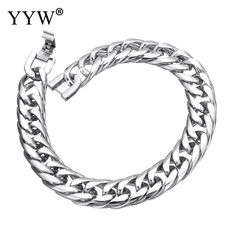 2017 Summer Metals Style Stainless Steel Bracelets for Men 8 inch Wheat Chains Compact Design Bangles for Male Wristbands Gifts