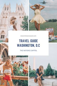 This Washington DC local travel guide by a local, gives a list of things to do in Washington DC year round. It outlines places to eat and where to stay. Dc Travel, Travel Tips, Travel Destinations, Globe Travel, Stuff To Do, Things To Do, Girls Love Travel, United States Travel, Travel Guides