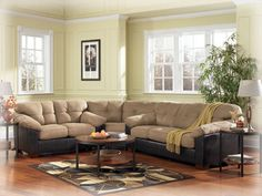 Ashley Furniture Sectionals | Carson Cocoa Sectional By ashley Furniture
