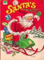 Santa's Paint and Color Book by The Krehbiels (1971  The Trash Collector • Children's Books • Coloring & Activity Books//mar16