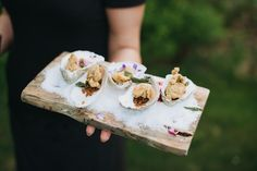 Fried Oyster Passed Appetizers | Maine | Photo: Callan Photo | http://knot.ly/6494BavQE | http://knot.ly/6495BavQ1