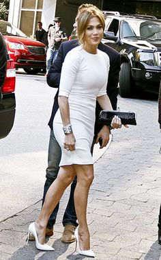 """""""Idol"""" Gossip Jennifer Lopez was pristine and sexy in all white arriving at the W hotel in Atlanta for American Idol auditions Oct. 30."""