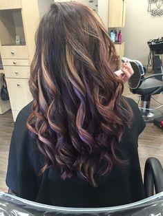 Purple Peekaboo highlights !                                                                                                                                                     More