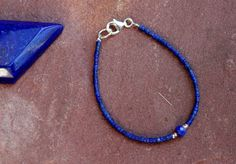 Lapis Lazuli 2 mm Bracelet For Child Or van EASTERNSOULS op Etsy
