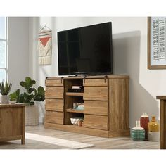 Brown Contemporary 60 Inch TV Stand - Cannery Bridge | RC Willey Furniture Store