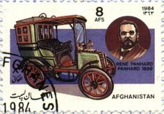 René Penhard 1899. Post stamp from Afghanistan