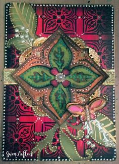 Art Journal Cards 4 with Stencils - Gwen Lafleur