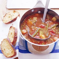 This basic vegetable soup can be made with any combination of fresh or frozen vegetables, so the soup will taste a little different each time. The recipe can easily be doubled or even tripled to feed all the vegetable soup fans at your table.