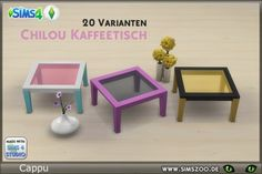 Blackys Sims 4 Zoo: Chilou coffee table by Cappu • Sims 4 Downloads