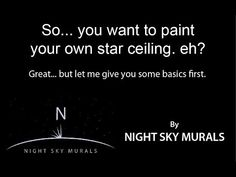 How to paint a night sky mural - this is the most practical discussion ever. - Julia Drowatzky - How to paint a night sky mural – this is the most practical discussion ever. How to paint a night sky mural – this is the most practical discussion ever. Night Sky Painting, Galaxy Painting, Starry Night Sky, Night Skies, Bedroom Night, Bedroom Ideas, Sky Ceiling, Ceiling Painting, Secret Rooms