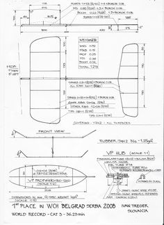 Plan of Ivan Treger's 0.6 gram rubber F1D.
