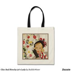 Chic And Kitschy 50's Lady Tote Bag