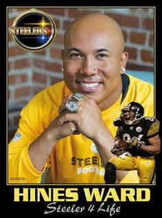 Steeler for life! Hines Ward>>> my favorite Steelers player ❤ Pitsburgh Steelers, Here We Go Steelers, Pittsburgh Steelers Football, Pittsburgh Sports, Best Football Team, Football Memes, Steelers Stuff, Football Players, Dallas Cowboys