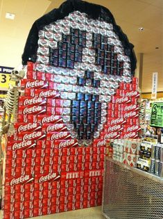 Coke/Soda 'Scream' Halloween Display