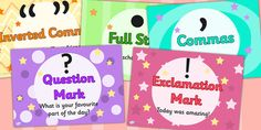 Punctuation Posters - These Punctuation posters are great for enhancing your classroom, for general display, or as discussion prompts.