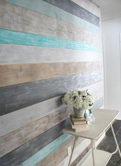 DIY a Wood Planked Accent Wall for Your Home