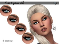 The Sims Resource: Vivid Eyeliner by MartyP The Sims 4 Pc, Sims 4 Mm Cc, Sims 4 Cc Skin, Sims 4 Cc Kids Clothing, Sims 4 Characters, Sims 4 Cc Makeup, The Sims 4 Download, Queen Makeup, Sims 4 Update