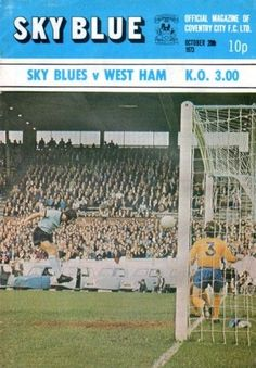 Coventry City Fc, West Ham, Blue V, Sky, Division, 1970s, October, Lost, Football