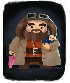 regram @stephlewart Hagrid and baby Harry #stephlew #photoshop #dailydoodle #artoftheday #fanart