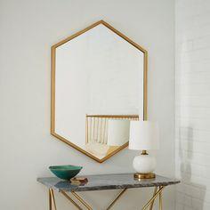 Espejo de Pared Hexagonal