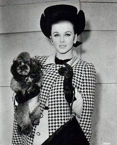 Ann Margret and her Poodle
