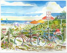 """No Bicycles on Beach"" by Donna Elias"