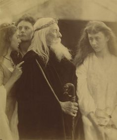 Julia Margaret Cameron (English, 1815-1879) King Lear and his Three Daughters 1872