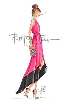 BlackPink - Brittany Fuson #bocetos #sketches #vestidos
