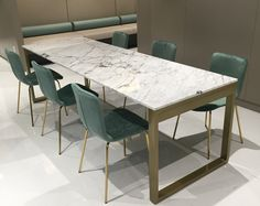 WMQU Table 대리석 : 스타투아리오 프레임 : 골드색상 사이즈 : 주문제작 Meeting Table, Custom Made, Marble, Dining Table, Furniture, Home Decor, Decoration Home, Room Decor, Dinner Table
