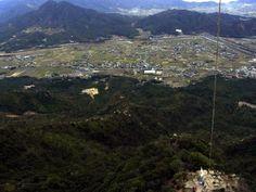 右田ヶ岳(山口)の山頂上空からカイトフォト(Kite Aerial Photography)