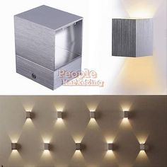 Modern 3W LED Square Wall Lamp Hall Bar Porch Walkway Living Room Light Fixture