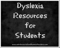 Dyslexia Resources for Students from @Kris Bales. Repinned by SOS Inc. Resources pinterest.com/sostherapy/.