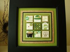 stampin up shadow box | St. Patrick's Day Stampin' Sampler