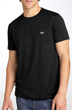Lacoste Croc Logo Pima Cotton Crewneck T-Shirt available at #Nordstrom