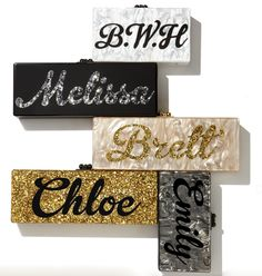 Edie Parker personalized clutches