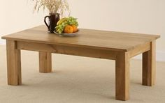 Solid Oak Minimalist Coffee Table