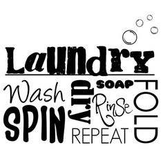 Vinyl Wall Art Laundry Word Collage 15W x 205H by RightSideStuff, $15.00