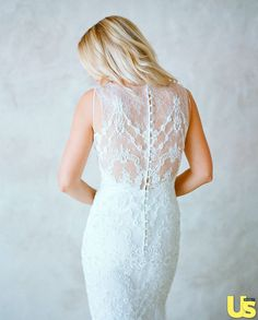 Lauren Conrad's wedding dress....The gown originally featured lace sleeves, but she decided to remove them.  -Cosmopolitan.co.uk