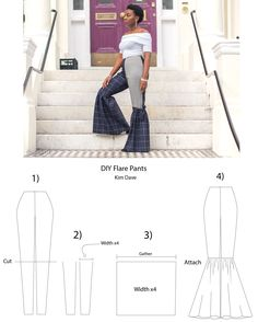 Trendy DIY Flare pants | Step by Step Sewing Tutorial by Kim Dave