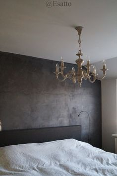 Cool idea as a feature wall in a bedroom. Put a sparkly hanging lighting fixture…