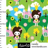 Fabric design for Jersey Johanna Ahlard - Illustration och design Princess Estelle, Fabulous Fabrics, Fabric Design, Pikachu, Lego, Sewing, Unique Jewelry, Mini, Handmade Gifts