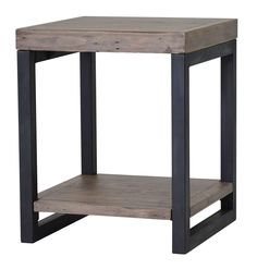 The Wooden Forge End Table - Sundried from LH Imports is a unique home decor item. LH Imports Site carries a variety of Wooden Forge and other Collections furnishings. Recycled Wood Furniture, Steel Furniture, Luxury Furniture, Cool Furniture, Furniture Design, Industrial Furniture, Furniture Ideas, Metal Side Table, Wood End Tables
