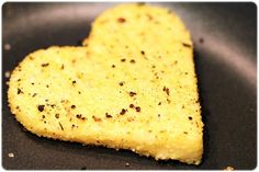 Cuori di polenta con Monte Veronese fuso - ricette @GardaConcierge