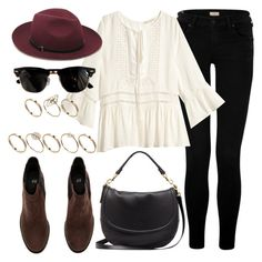 """Style  #9176"" by vany-alvarado ❤ liked on Polyvore featuring True Religion, Mulberry, H&M, ASOS and Ray-Ban"